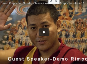 Sunday Talk met Demo Rinpoche van 4 November 2018