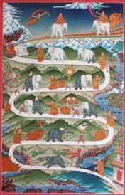 Afbeelding van de olifant temmen