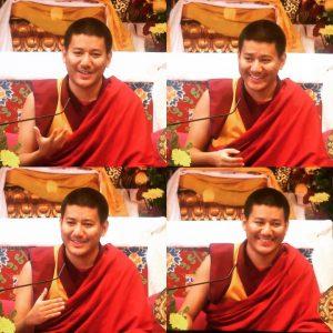 Demo Rinpoche terwijl hij lesgeeft